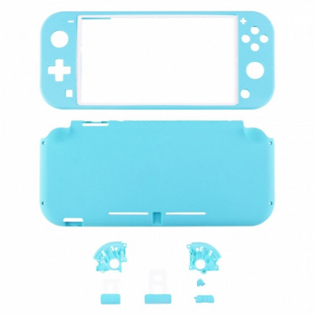 NS Switch Lite Complete Shell Kit Soft Touch Heaven Blue