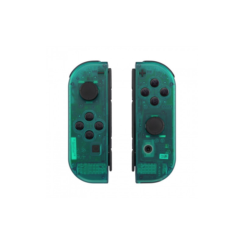 NS Switch Joy-con Left and Right Replacement Case Set Clear Emerald Green