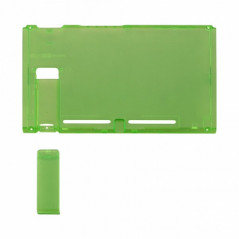 NS Switch Console Backplate With Kickstand Transparent Clear Green
