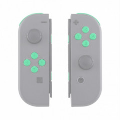 NS JoyCon Soft Touch 16 piece Button Kit Silky Soft Touch Mint Green
