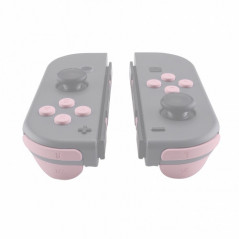 NS JoyCon Soft Touch 16 piece Button Kit Silky Soft Touch Sakura Pink