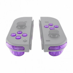NS JoyCon 16 piece Button Kit Transparent Clear Purple