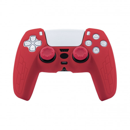 DS5 CONTROLLER SILICON GLOVE WITH THUMBSTICKS RED