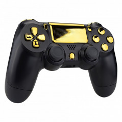 Dualshock 4 DS4 V2 Controller Button Set Glossy Chrome Gold with Touchpad Cover