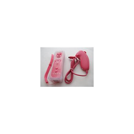 WII Wireless Remote and Nunchuk Controller Pink without Packing