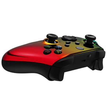 XBOX SERIES S/X Controller Front Faceplate Chrome Series Glossy Chrome Gradient Green Gold Red