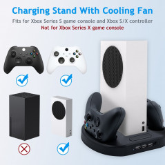 XBOX SERIES S VERTICAL COOLING STAND WITH DUAL CONTROLLER CHARGING DOCK