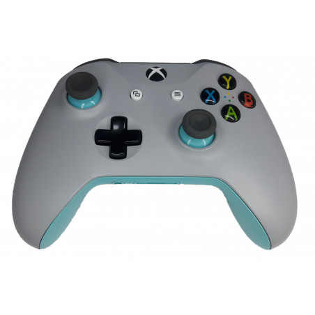 Xbox One S Official Microsoft Design Lab Light Grey / Blue Wireless Controller Refurbished
