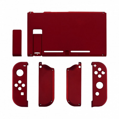 NS Switch Console Full Shell Silky Soft Touch Vampire Red