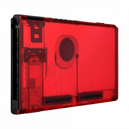NS Switch Console Backplate With Kickstand Transparent Clear Red