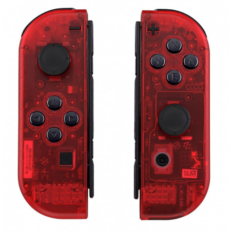 NS Switch Joy-con Left and Right Replacement Case Set Clear Transparent Red