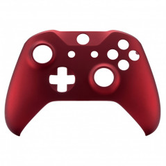 XBOX ONE S Controller Front Faceplate Soft Touch Vampire Red