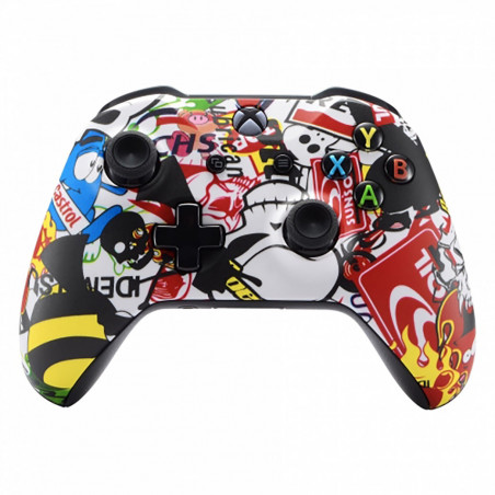 XBOX ONE S Controller Front Faceplate Soft Touch BOMB
