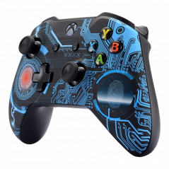 XBOX ONE S Controller Front Faceplate Art Series Soft Touch Technology Circuit