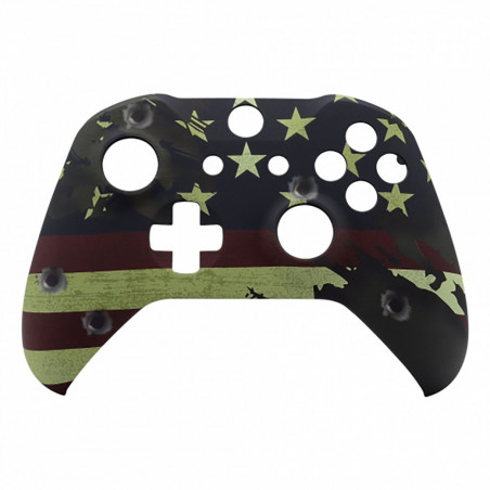 XBOX ONE S Controller Front Faceplate Art Series Soft Touch Patriot