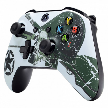 XBOX ONE S Controller Front Faceplate Art Series Soft Touch WWII US Army and Skull