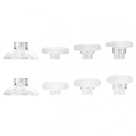 XBOX / PS4 Controller 8in1 FPS Removable Raised Thumbsticks Clear