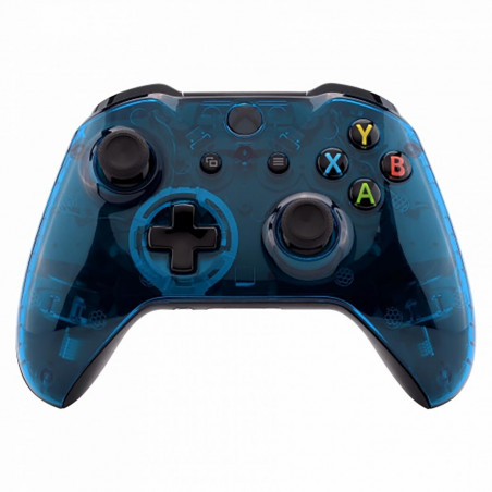 XBOX ONE S Controller Front FacePlate Glossy Clear Blue