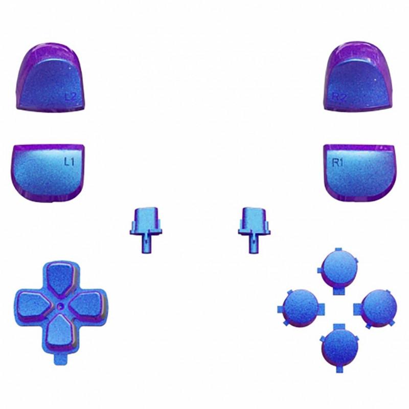 PS5 Dualsense Button Set Glossy Chameleon Blue Purple