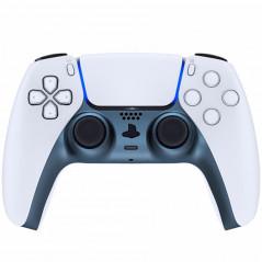 PS5 Dualsense Controller Plastic Trim with Accent Rings Matte UV Regal Blue