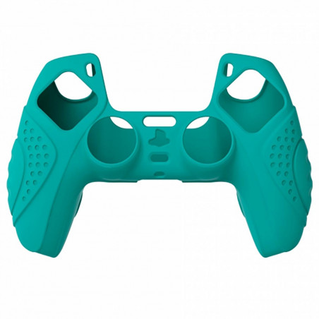 DS5 DUALSENSE CONTROLLER SURE GRIP SILICONE GLOVE With White Joystick Caps Guardian Edition Aqua Green