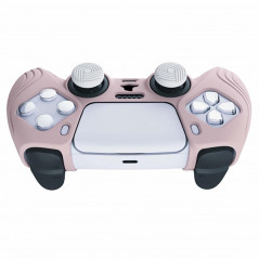 DS5 DUALSENSE CONTROLLER SURE GRIP SILICONE GLOVE With White Joystick Caps Samurai Edition Sakura Pink