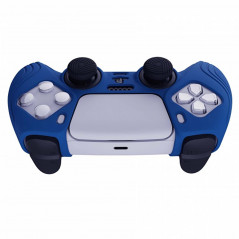 DS5 DUALSENSE CONTROLLER SURE GRIP SILICONE GLOVE With Black Joystick Caps Samurai Edition Deep Blue