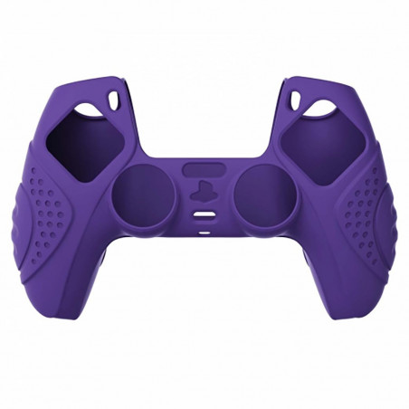 DS5 DUALSENSE CONTROLLER SURE GRIP SILICONE GLOVE With Black Joystick Caps Guardian Edition Dark Purple