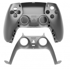 PS5 Dualsense Controller Top and Bottom Shell with Trim Steel Gray
