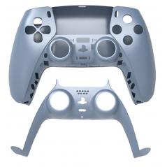 PS5 Dualsense Controller Top and Bottom Shell with Trim Titanium Blue