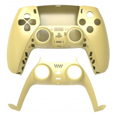 PS5 Dualsense Controller Top and Bottom Shell with Trim Gold