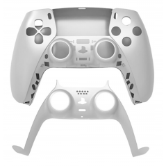 PS5 Dualsense Controller Top and Bottom Shell with Trim Silver