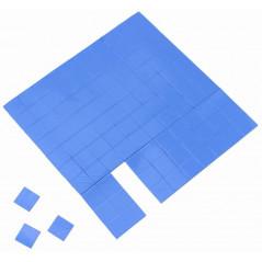 100pcs Blue GPU CPU Heatsink Cooling Conductive silicon Pad thermal pads 10x10x2mm
