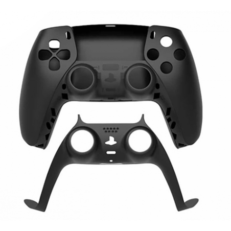 PS5 Dualsense Controller Top and Bottom Shell with Trim Black