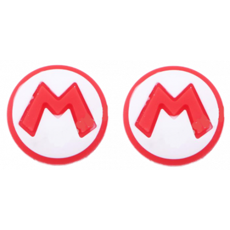 NS Switch Joy-con New Super Mario Silicone Rubber Thumb Grips