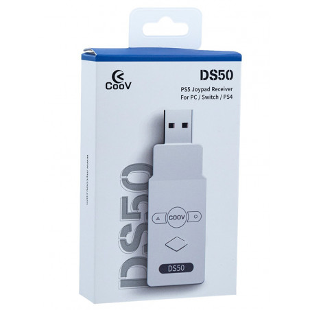 Coov DS50 Adapter to USE PS5 CONTROLLER on PS4/NINTENDO SWITCH/PC