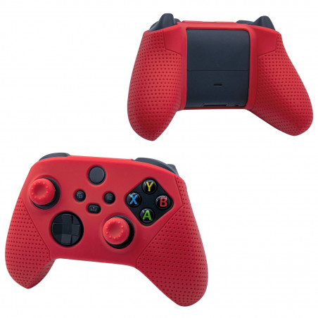 XBOX SERIES SILICONE PROTECTIVE SKIN WITH THUMB CAP RED DOBE