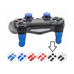 PS4 DS4 Extended L2 / R2 FPS Trigger Cap Pro Black with Black Thumbcaps