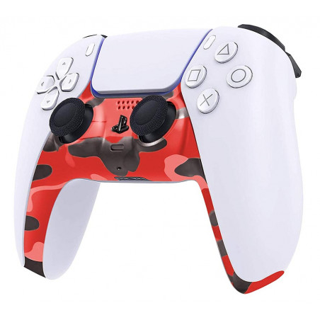 PS5 Dualsense Controller Plastic Trim Camouflage Red