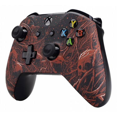 XBOX ONE S Controller Front Faceplate Art Series Soft Touch Blood Purgatory