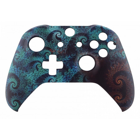 XBOX ONE S Controller Front Faceplate Art Series Soft Touch Octo