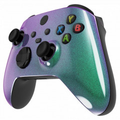 XBOX SERIES S/X Controller Front Faceplate Glossy Chameleon Green Purple