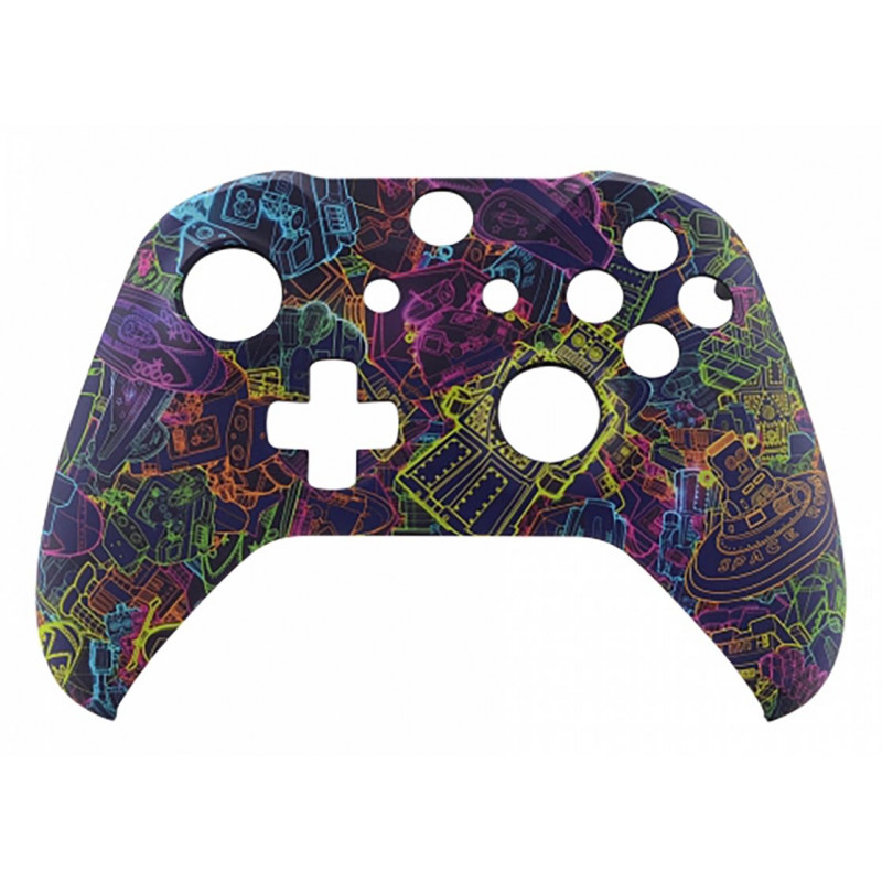 XBOX ONE S Controller Front Faceplate Art Series Soft Touch Neon Novel