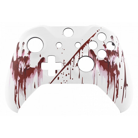XBOX ONE S Controller Front Faceplate Art Series Soft Touch Bloody Hands