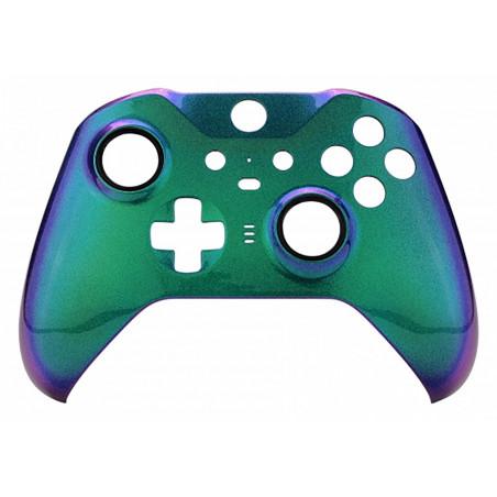 XBOX Elite V2 Controller Front Faceplate Glossy Chameleon Green Purple