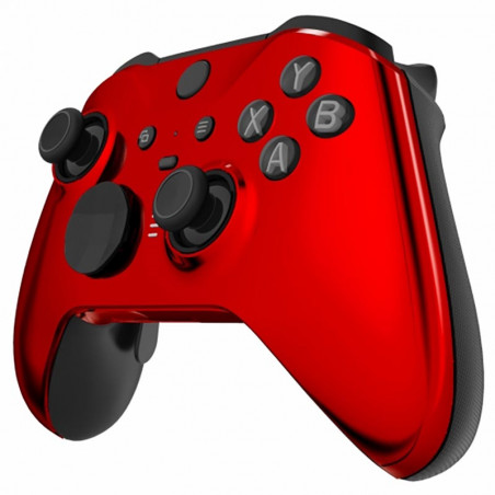 XBOX Elite V2 Controller Front Faceplate Glossy Chrome Red