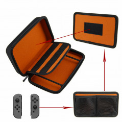 NINTENDO SWITCH PROTECTIVE STORAGE BAG CASE WITH 10 GAMES CARTRIDGE HOLDER BLACK