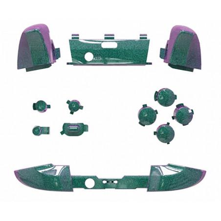Xbox Elite V2 Controller Full Button Set Glossy Chameleon Green Purple