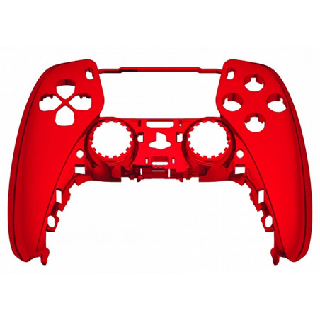 PS5 Dualsense Controller Front Shell With Touchpad Gloss Chrome Red