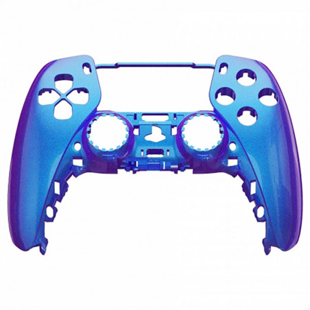 PS5 Dualsense Controller Front Shell With Touchpad Glossy Chameleon Blue Purple